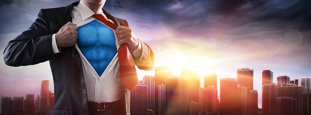 スーパーマンをイメージしたイラスト