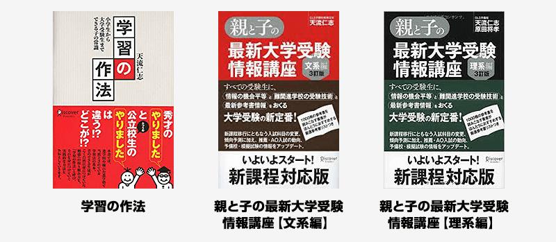 天流仁志先生が出版した書籍の写真