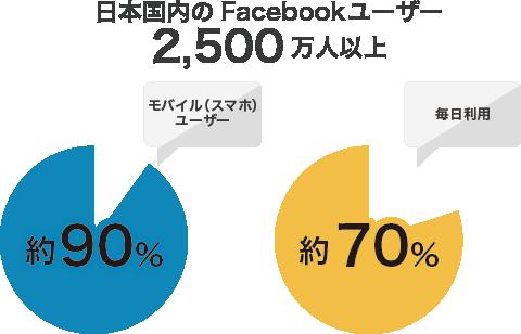日本国内のFacebookユーザーを表したグラフ