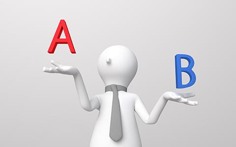 AとBを比べる写真